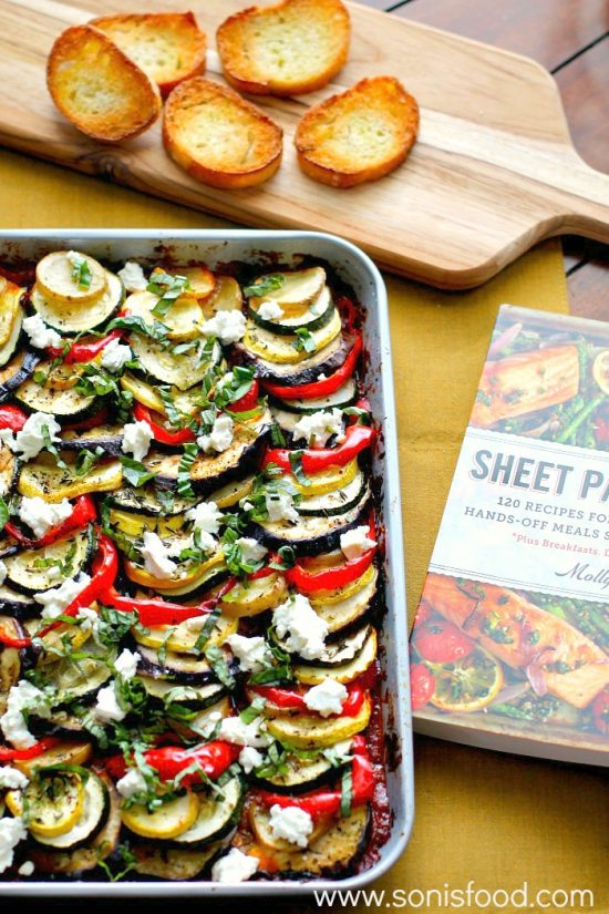 One Tray Meals: Hearty Ratatouille with Goat's Cheese from Soni's Food | The Health Sessions