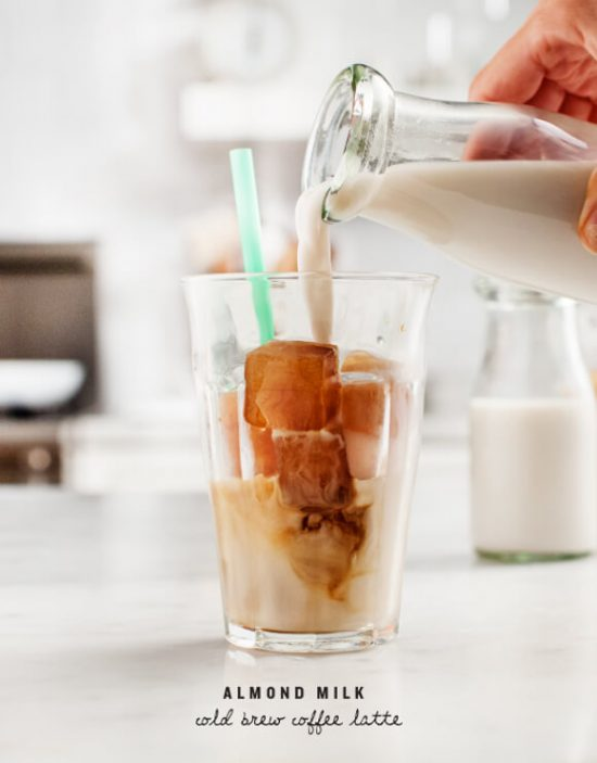 12 Refreshing Summer Drinks: Almond Milk Cold Brew Coffee Latte by Love & Lemons | The Health Sessions