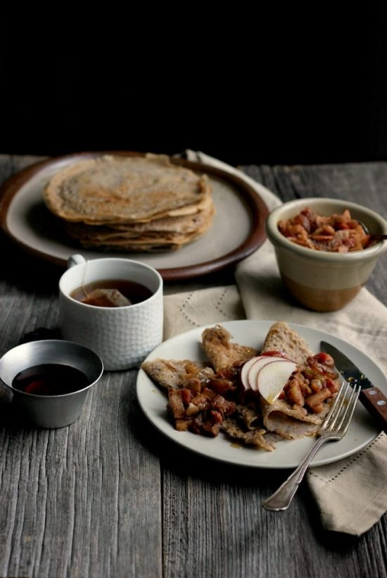 Spice Up Your Health: Maple Buckwheat Crepes with Spiced Apple and Chestnut Relish from Happy Hearted Kitchen | The Health Sessions