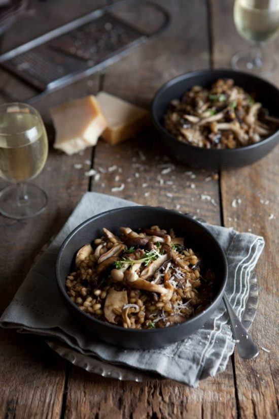 Your Favourite Fall Produce: Mushroom and Barley 'Risotto' from Drizzle and Dip | The Health Sessions