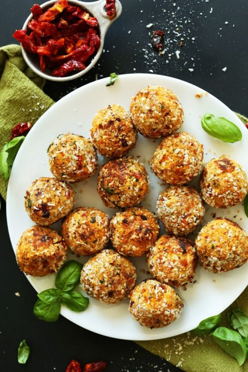Healthy Party Food: Sun-Dried Tomato Vegan Meatballs from Minimalist Baker | The Health Sessions