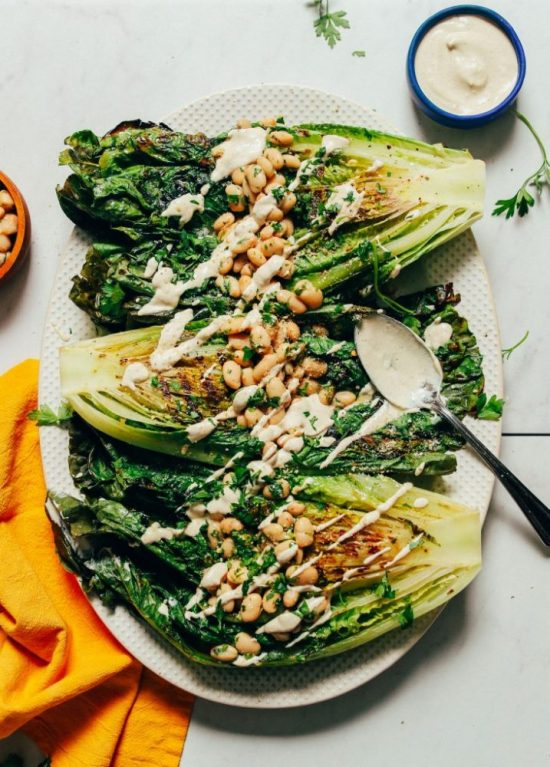 Eat More Leafy Greens: Grilled Romaine Caesar Salad from Minimalist Baker | The Health Sessions