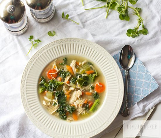 Recovery-Boosting Recipes: Easy Chicken & Kale Vegetable Soup from Linda Wagner | The Health Sessions