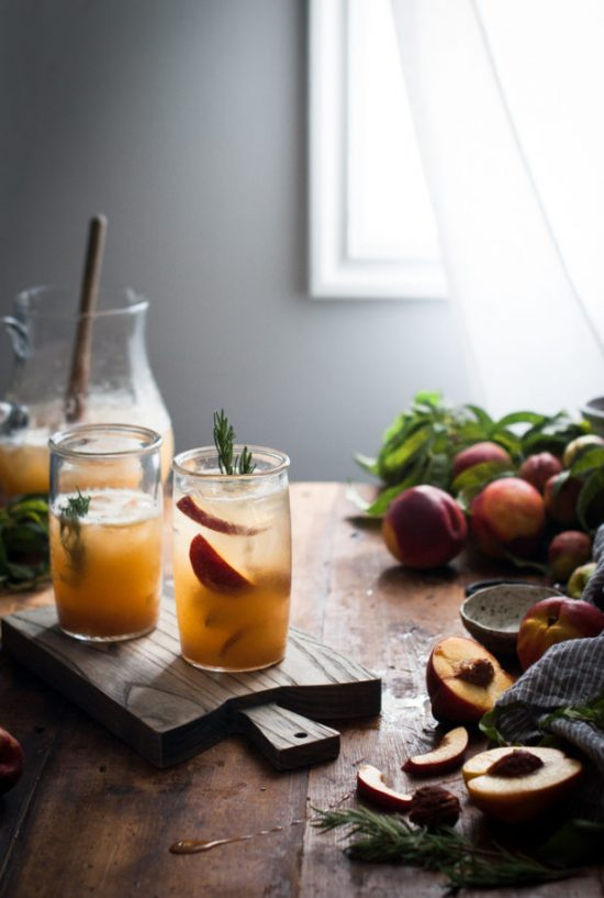 Mocktail Hour: Nectarine Rosemary Honey Shrub from The Kitchen McCabe | The Health Sessions