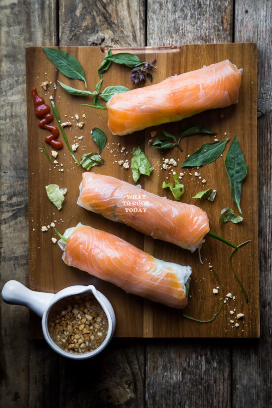 No-Cook Recipes: Smoked Salmon Fresh Spring Rolls from What to Cook Today | The Health Sessions