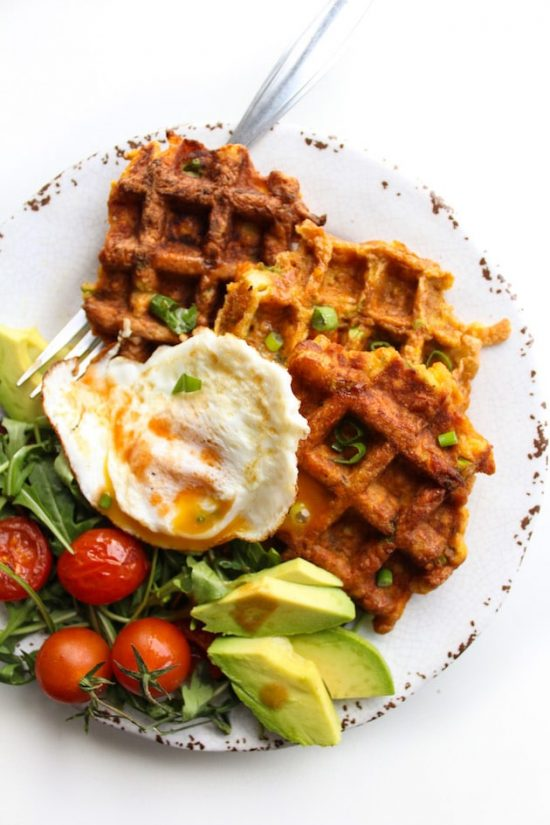 Eat Vegetables with Every Meal: Paleo Sweet Potato Waffles from A Saucy Kitchen | The Health Sessions