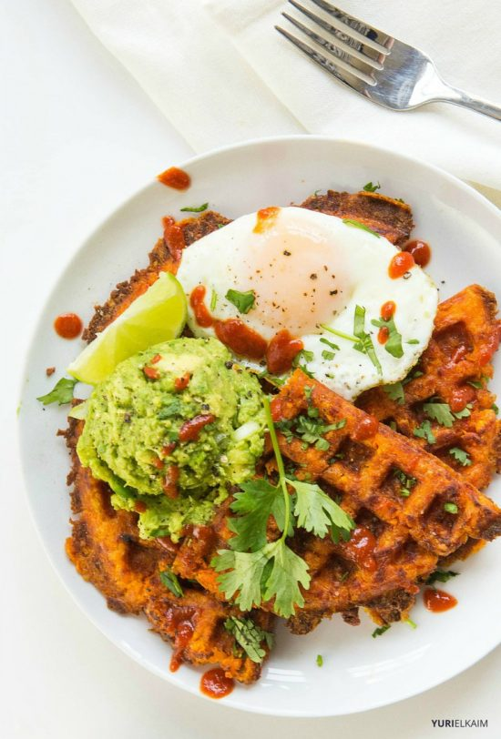 Healthy Stacks: Paleo Sweet Potato Waffles from Yuri Elkaim | The Health Sessions