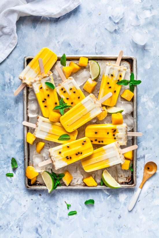 Healthy Popsicles: Mango Passionfruit & Coconut from The Whimsical Wife | The Health Sessions