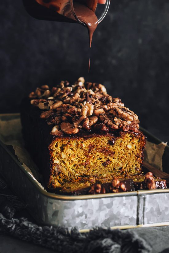 Eat Vegetables with Every Meal: Vegan Pumpkin Bread with Chocolate and Walnuts from The Awesome Green | The Health Sessions