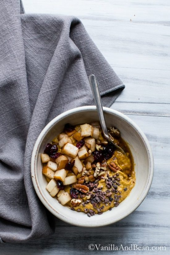 Eat Vegetables with Every Meal: Pumpkin Porridge from Vanilla and Bean | The Health Sessions