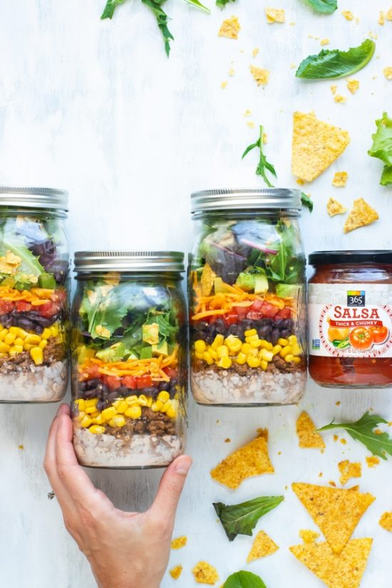 Salads To-Go :Healthy Taco Salad in a Mason Jar from Evolving Table | The Health Sessions