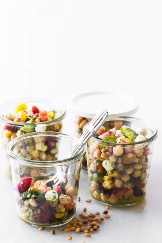 Salads To-Go: Chickpea Salad with Pesto from The View From Great Island | The Health Sessions