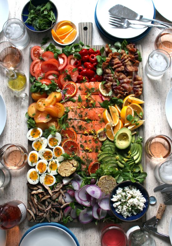 Shared Meals: Salmon Cobb Salad Board from Tastespotting | The Health Sessions