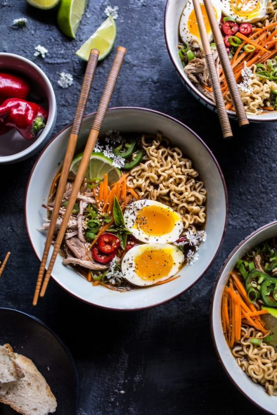 Healthy Slow Cooker Recipes: Vietnamese Slow Cooker Ramen Soup via Crate and Barrel Blog | The Health Sessions