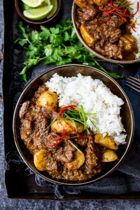 Healthy Slow Cooker Recipes: Beef Massaman Curry from Kitchen Sanctuary | The Health Sessions