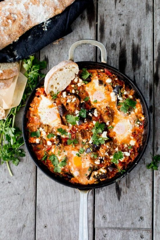 Eat Vegetables with Every Meal: Spiced Eggplant Shakshuka from The Brick Kitchen | The Health Sessions