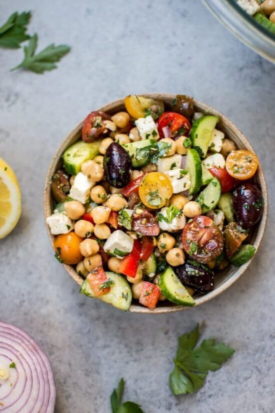 Summer Salads: Mediterranean Chickpea Salad from Salt & Lavender | The Health Sessions