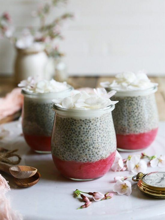 Tea Recipes: Earl Grey Rhubarb Chia Pudding from Homegrown Provisions | The Health Sessions