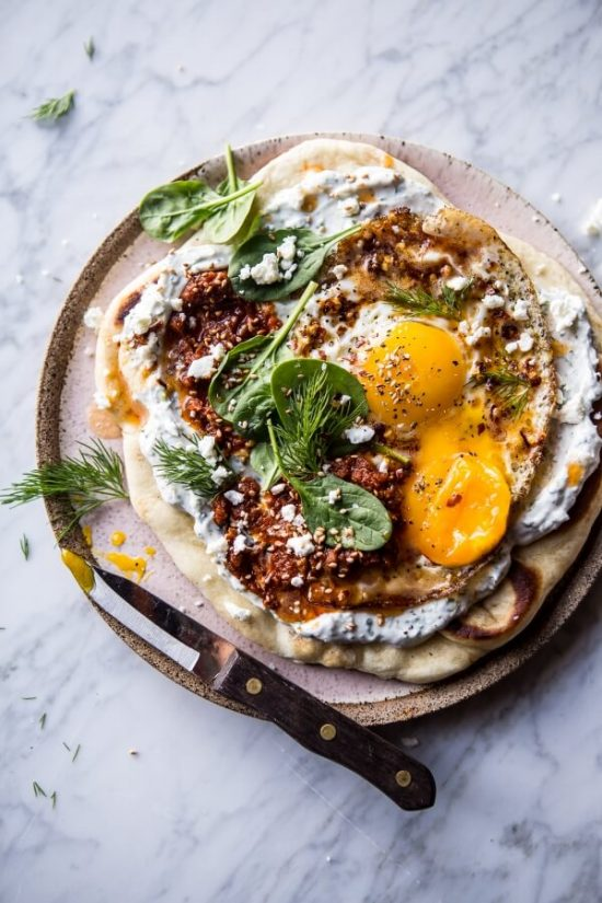 10 Healthy Egg Breakfasts: Turkish Fried Eggs in Herbed Yogurt from Half Baked Harvest | The Health Sessions