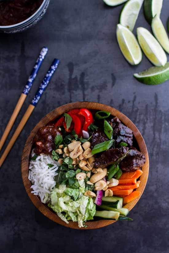Delicious Dinner Bowls: Vietnamese Shaken Beef Bowl with Hoisin Sauce from Half Baked Harvest | The Health Sessions