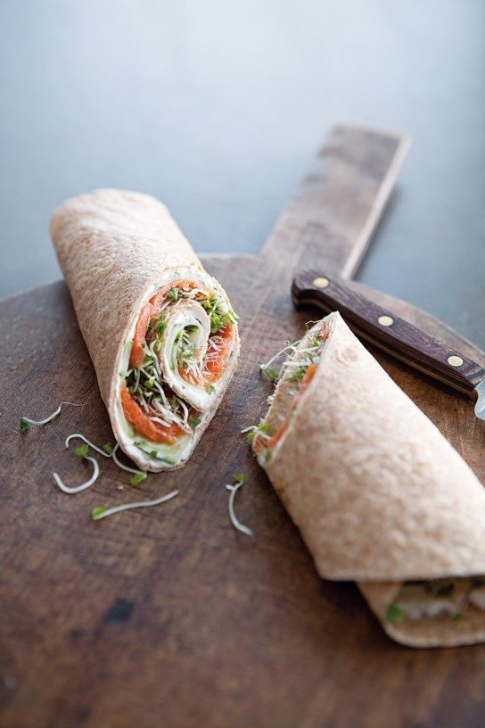 Healthy Work Lunches: Smoked Salmon & Cucumber Wraps from Williams - Sonoma | The Health Sessions