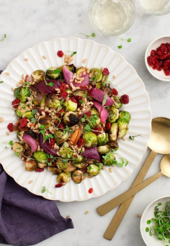Warm Winter Salads: Balsamic Brussels Sprouts Salad by Love and Lemons | The Health Sessions