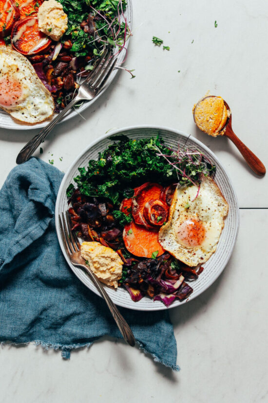 Winter Cabbages Recipes: The Simple But Good Breakfast Bowl by Minimalist Baker | The Health Sessions