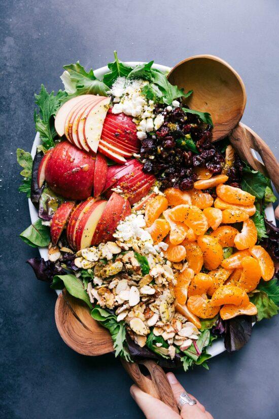 Winter Citrus Recipes: Mandarin Orange Salad by Chelsea's Messy Apron | The Health Sessions