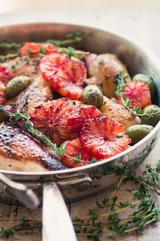 Winter Citrus Recipes: Roast Chicken with Blood Orange and Olives by The View From Great Island | The Health Sessions