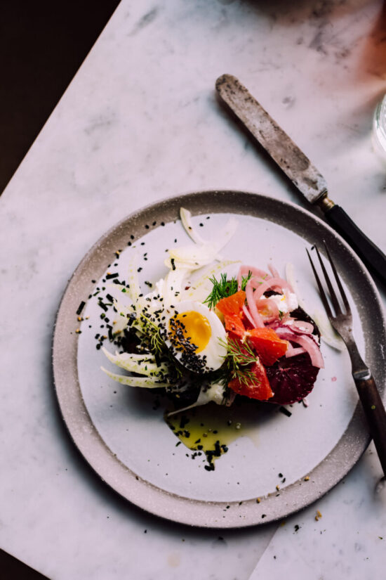 Winter Citrus Recipes: Winter Citrus Toast with Egg, Ricotta & Shaved Fennel by Christiann Koepke | The Health Sessions