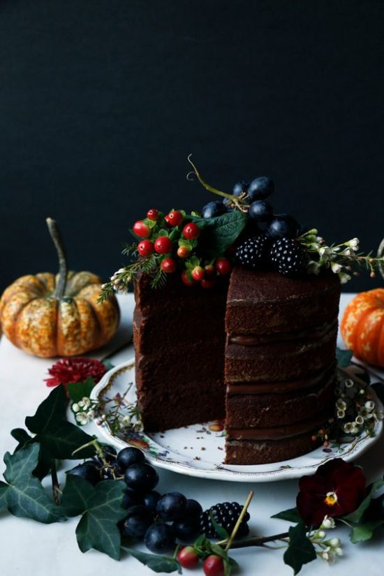 Healthy Holiday Desserts: Pumpkin Chocolate Layer Cake from Nirvana Cakery | The Health Sessions