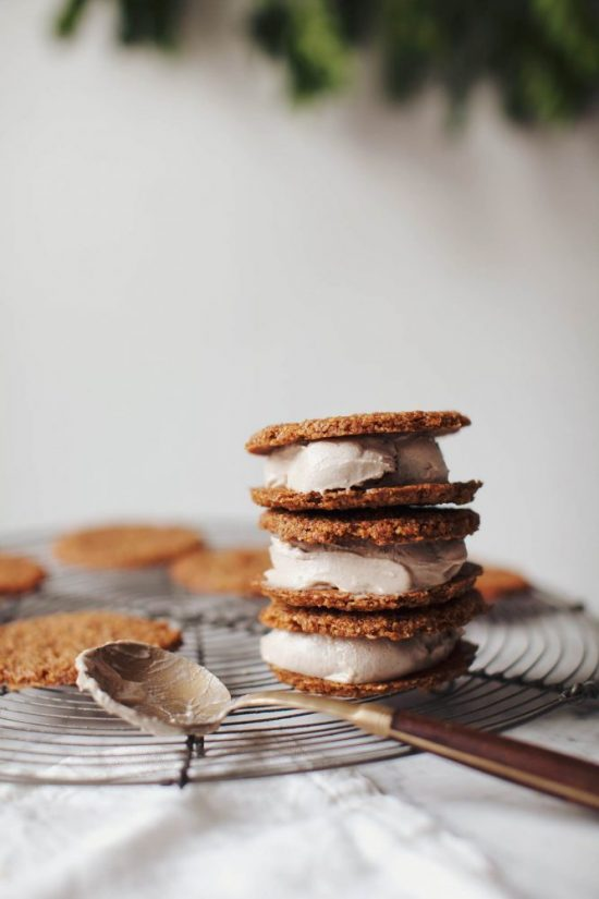Healthy Holiday Desserts: Gingersnap Eggnog Ice Cream Sandwiches from My New Roots | The Health Sessions