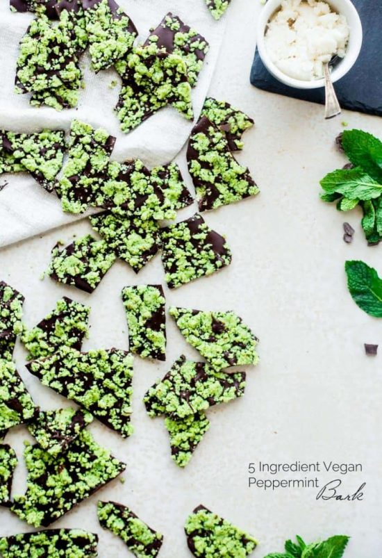 Healthy Holiday Desserts: Vegan Peppermint Bark from Food Faith Fitness | The Health Sessions