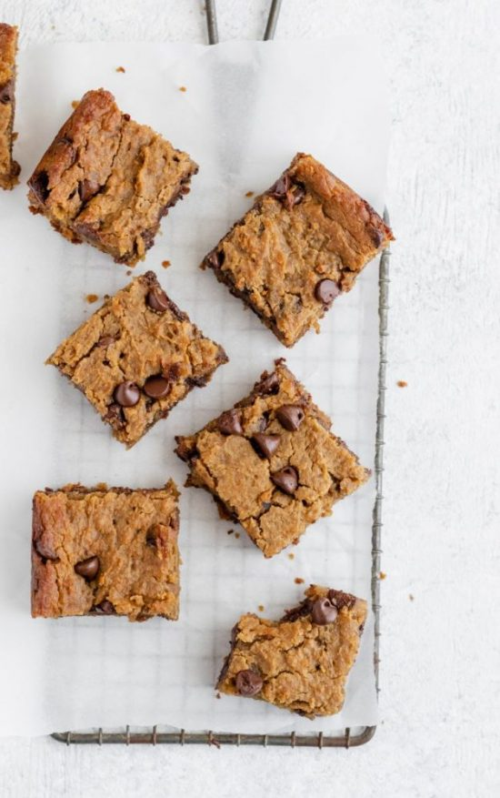 The Best of Beans: Flourless Chocolate Chip Chickpea Blondies from Ambitious Kitchen | The Health Sessions