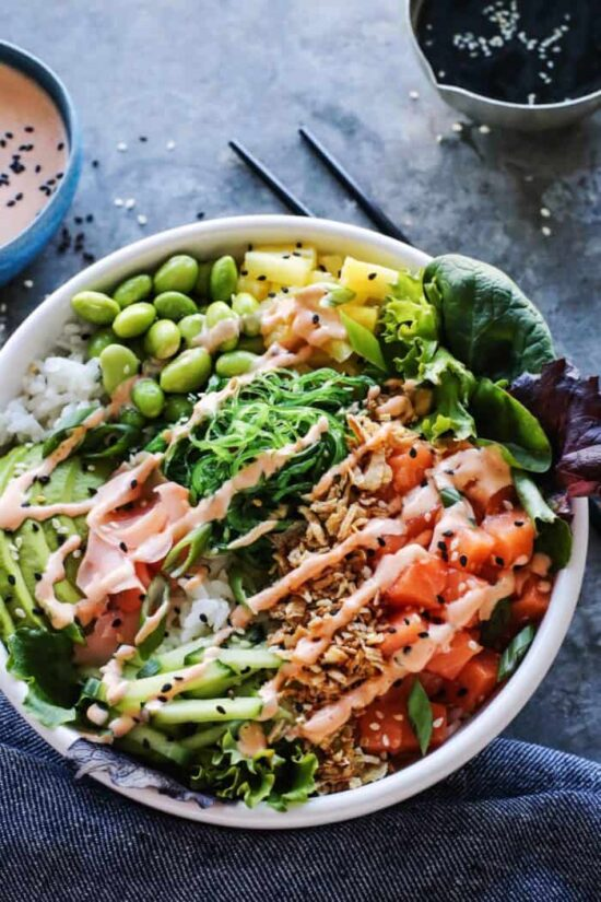 Best Bowl Food: Easy Hawaiian Poke Bowl from A Farm Girl's Dabbles | The Health Sessions