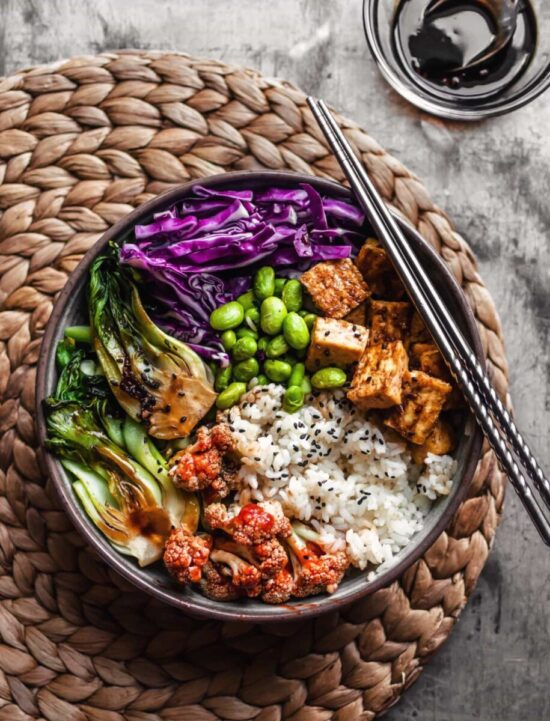 Best Bowl Food: Crispy Teriyaki Tofu Rice Bowl from The Plant-Based Wok | The Health Sessions