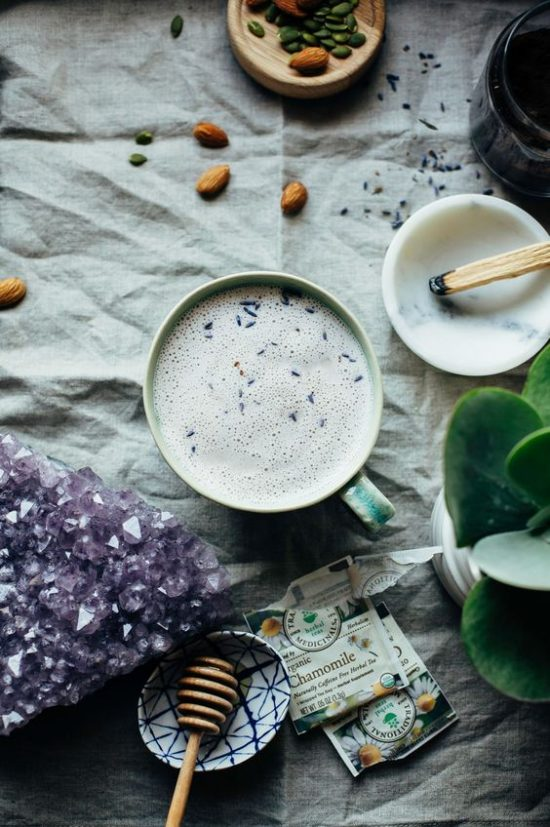 10 Health-Boosting Hot Drinks: Instant Calm Lavender Latte from The First Mess | The Health Sessions