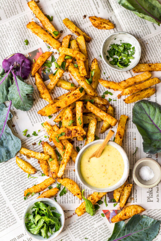 Winter Cabbages Recipes: Kohlrabi Fries from Heavenlynn Healthy | The Health Sessions