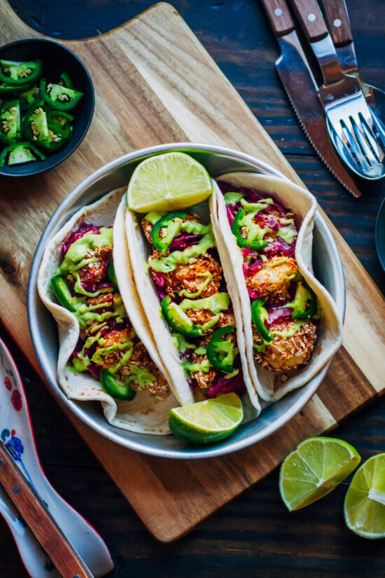 Winter Cabbages Recipes: Cauliflower Tacos from Well and Full | The Health Sessions