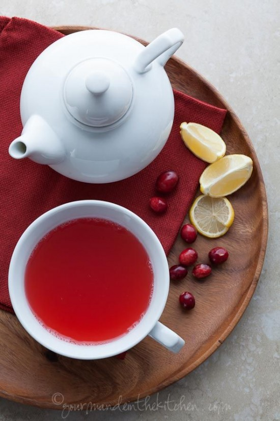 Hot & Healing Drinks: Cranberry Spice Tea from Gourmande in the Kitchen | The Health Sessions