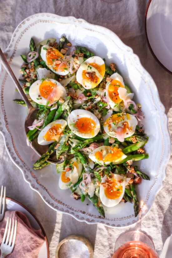 Healthy Egg Dishes: Jammy Egg and Asparagus Salad from Inherited Salt | The Health Sessions