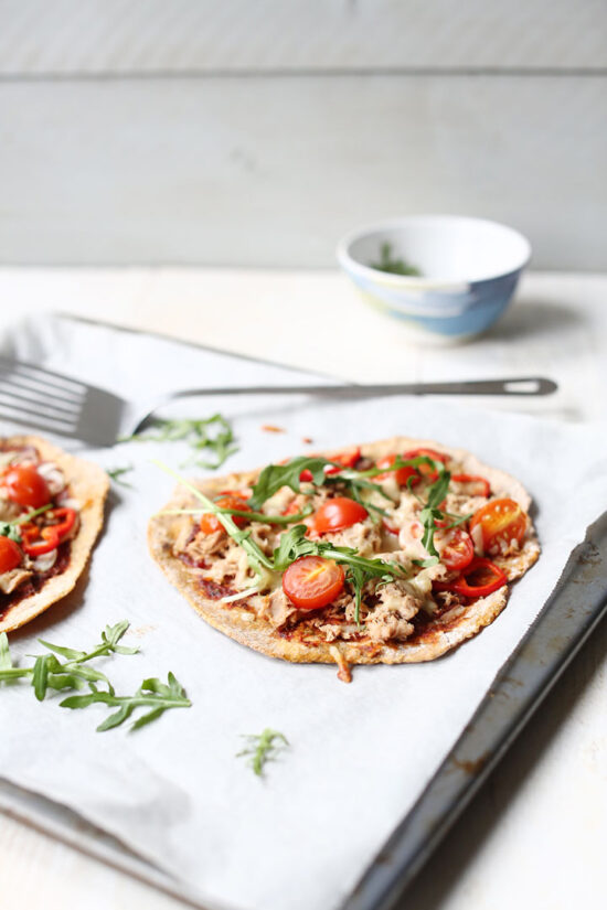 Healthier Fast Food: Sweet Potato Flatbread Tuna Pizza from The Tortilla Channel | The Health Sessions