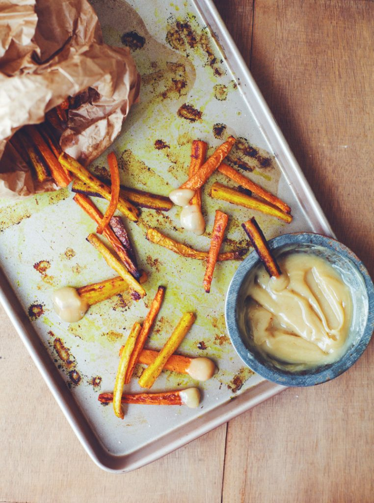 Healthy Burgers & Fries: Spicy Carrot Fries with Honey- Tahini Aioli ...