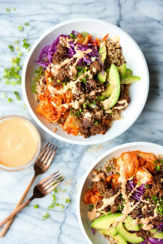 Eat More Fermented Foods: Korean Beef Power Bowls from Damn Delicious   The Health Sessions