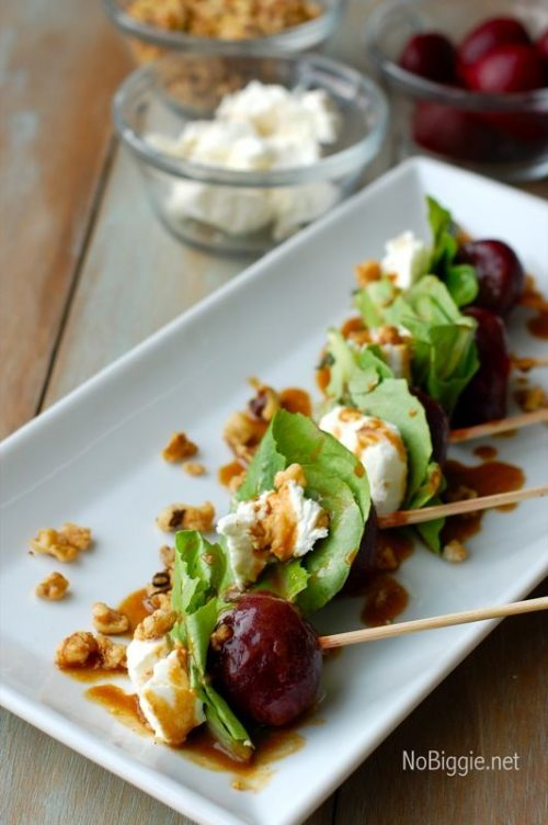 Healthy Party Food: Beet Salad on a Stick from NoBiggie.net | The Health Sessions