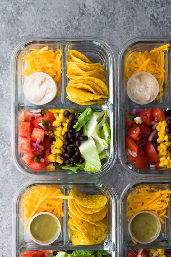 Gluten-Free Lunchbox: No Cook Taco Salad Bento Box from Sweet Peas and Saffron | The Health Sessions