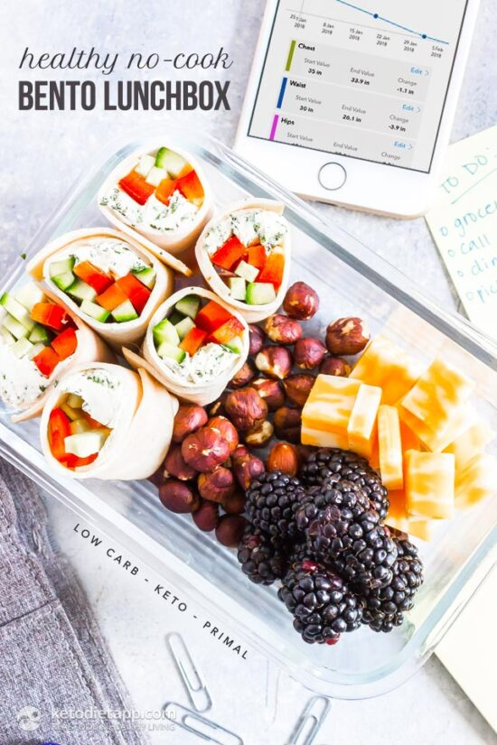 Gluten-Free Lunch Box: Healthy No-Cook Bento Lunch Box from Keto Diet App | The Health Sessions