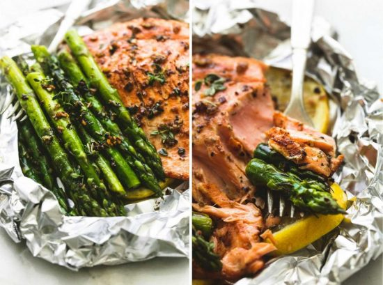 Recovery-Boosting Recipe: Herb Butter Salmon with Asparagus Foil Packs from Le Creme de la Crumb | The Health Sessions