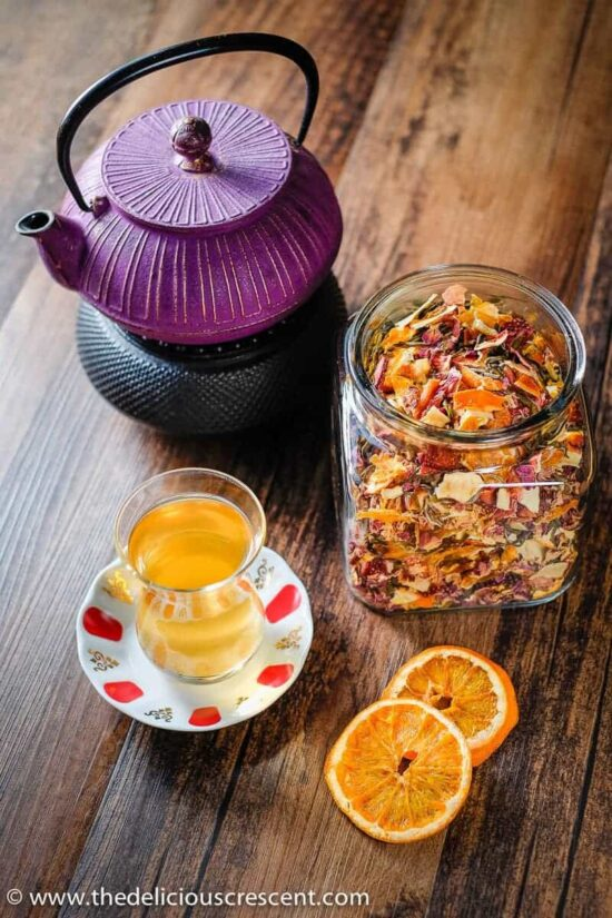 Herbal Teas: Rose, Citrus, Berry and Apple Homemade Tea from The Delicious Crescent   The Health Sessions