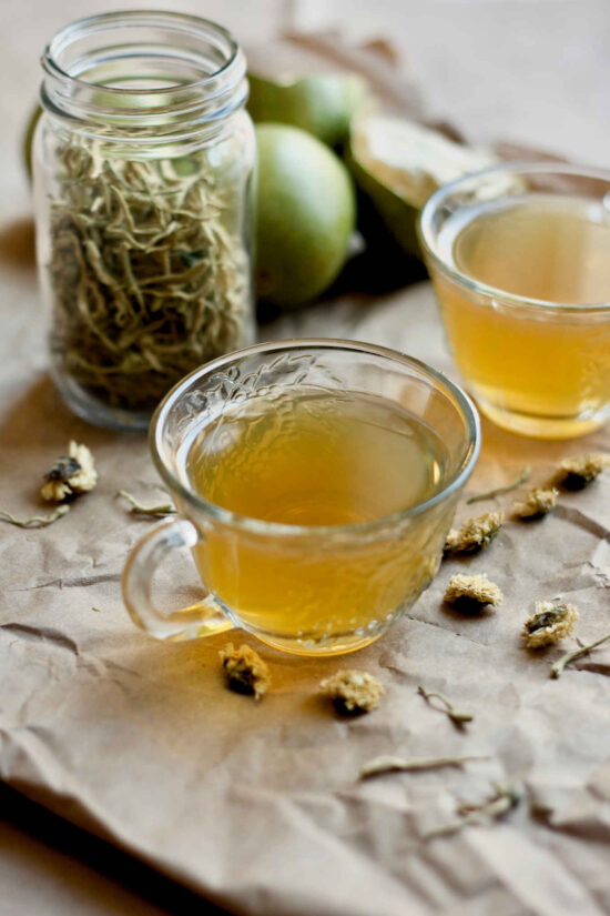 Herbal Teas: Honeysuckle, Monk Fruit and Chrysantium Tea from Yangs Nourishing Kitchen   The Health Sessions